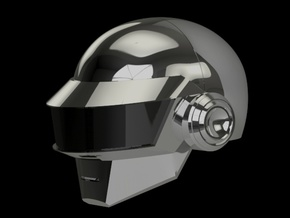 Daft Punk Thomas helmet - 2mm wall in White Strong & Flexible