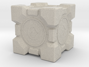 Aperture Science Weighted Companion Cube in Natural Sandstone
