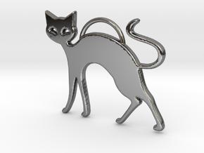 Slinky Cat in Fine Detail Polished Silver