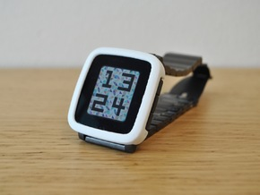 Pebble Time Steel Bumper Cover in White Strong & Flexible Polished