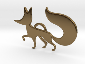 The little Fox in Polished Bronze