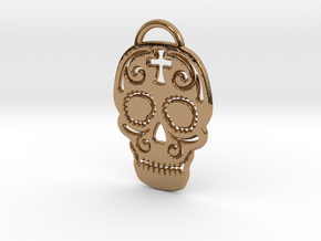 Skull with pattern in Polished Brass