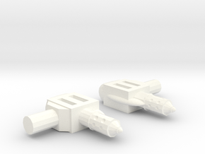 Superion Backpack Connectors in White Processed Versatile Plastic
