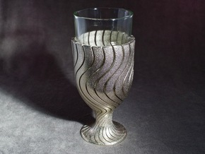 Kiddush Cup in Polished Nickel Steel