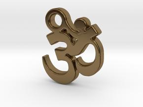 Om Pendant (Devanagari) in Polished Bronze