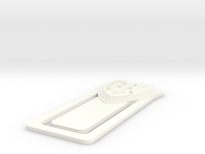 MGHS 3D Bookmark in White Processed Versatile Plastic