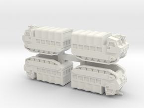 6mm M548 Tracked Carrier (4 Pcs) in White Strong & Flexible