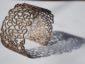 Cuff 'Patterns' in Polished Bronze Steel