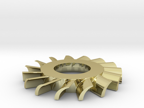 Turbine Pin in 18k Gold Plated Brass