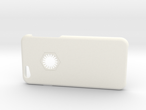 Iphone 6 Case First Order in White Processed Versatile Plastic
