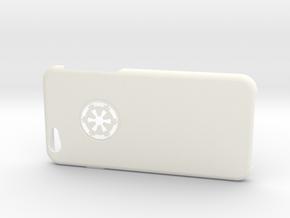 Iphone 6 Case Imperial in White Processed Versatile Plastic