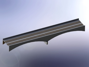 German Remagen / Ludendorff Railway Archbridge 1/2 in White Natural Versatile Plastic