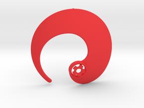 Enso No.1 Pendant in Red Processed Versatile Plastic