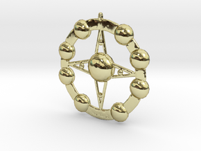 Astēr Planētēs - Pendant in 18k Gold Plated Brass