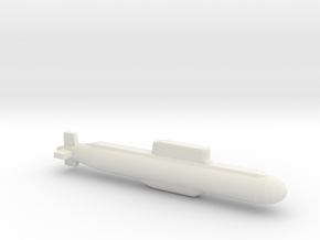 032 submarine, Full Hull, 1/1800 in White Natural Versatile Plastic