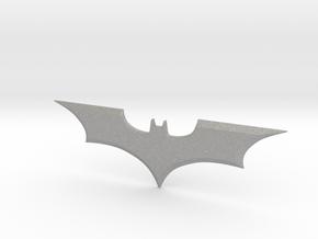 """Batman Trilogy Batarang 12cm (4.75"""") in Raw Aluminum"""