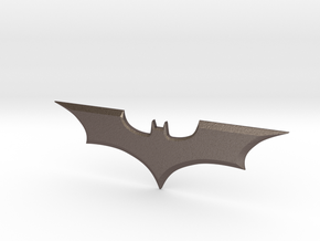 "Batman Trilogy Batarang 12cm (4.75"") in Polished Bronzed Silver Steel"