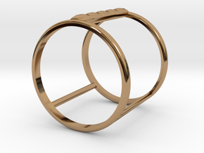 Model Double Ring B in Polished Brass
