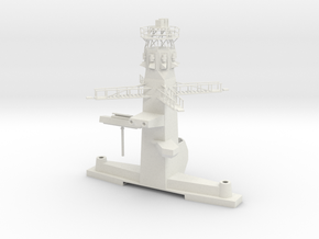1/96 : 1/100 scale Type 23 British Navy Main Mast in White Natural Versatile Plastic