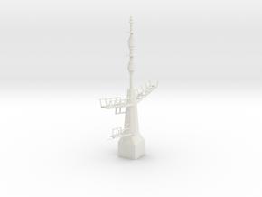 1/96 / 1/100 scale British Navy Type 23 Aft Mast in White Natural Versatile Plastic
