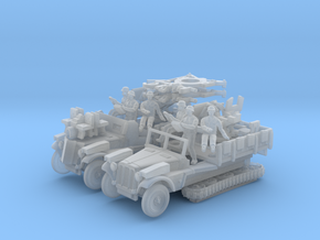 Sd.Kfz 10/5 FLAK 38 (2 pack) HO in Smooth Fine Detail Plastic