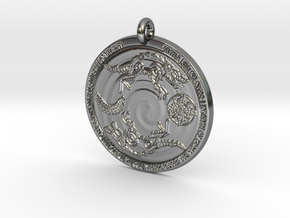 Máni, Sunna, Hati og Sköll in Fine Detail Polished Silver