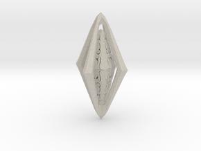 Rune Diamond in Natural Sandstone