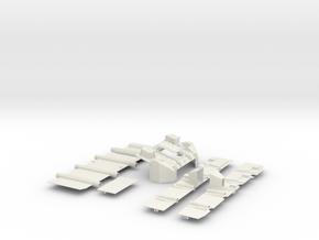 Stryker APC Bottom Kit(1:18 Scale) in White Natural Versatile Plastic