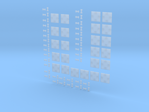 Pixel art tiles in Smooth Fine Detail Plastic
