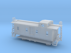 Illinois Central Side Door Caboose - Zscale in Frosted Ultra Detail