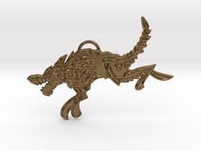 Sköll in Polished Bronze