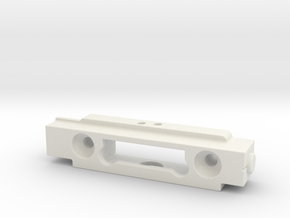 Greeble Block for ROTJ E-11 in White Natural Versatile Plastic