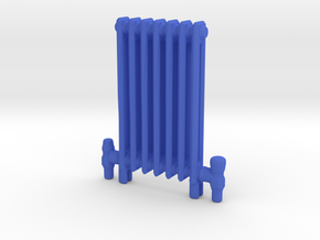 Radiator Floor Mounted Scale model in Blue Processed Versatile Plastic