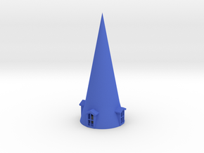 Roof 120mm hight & conical with 4 windows in Blue Processed Versatile Plastic