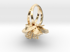 Double Cherry Blossom Ring in 14K Yellow Gold: 5.5 / 50.25