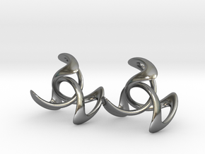 Trinity Earring Pair (3 cm) in Polished Silver