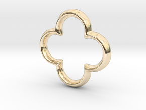 Quatrefoil Charm - 11mm in 14K Yellow Gold