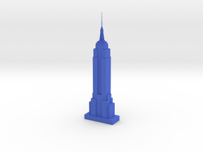 Empire State Building in Blue Strong & Flexible Polished