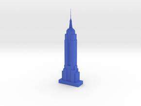 Empire State Building in Blue Processed Versatile Plastic