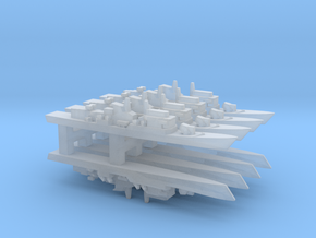 Lupo-class FFG w/ Hanger x 8, 1/6000 in Smooth Fine Detail Plastic