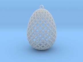 Easter Egg Ornament in Smooth Fine Detail Plastic