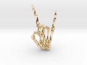 Devil Horns Left Hand in 14k Gold Plated Brass