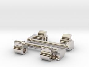 GShock GA-1000 NATO adapter 24mm (metal) in Rhodium Plated Brass