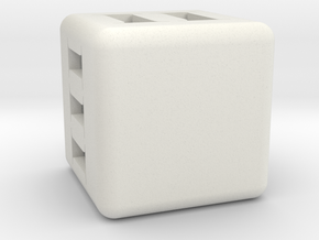 Make your own Dice! in White Natural Versatile Plastic