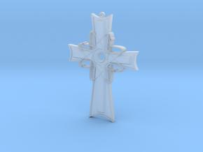 Atomic Cross Pendant (Beta) in Smoothest Fine Detail Plastic