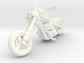 Harley Motorcycle Chopper 28mm miniature in White Processed Versatile Plastic