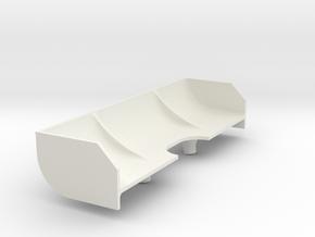 V2 Mini Z mac laren 12C GT3 spoiler in White Natural Versatile Plastic