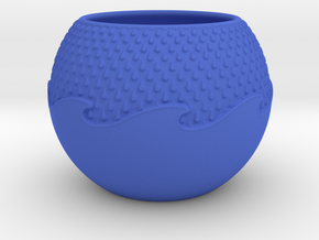 Wave Planter in Blue Processed Versatile Plastic