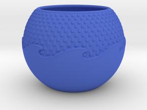 Wave Planter in Blue Processed Versatile Plastic