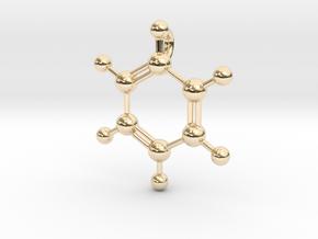 Benzene Pendant in 14K Yellow Gold